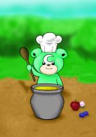 Shiny chef teddiursa by VisualArt93