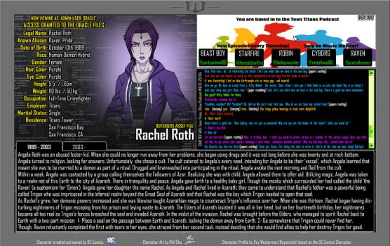 Oracle Files - Rachel Roth by Roysovitch