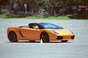 Lambo in South Lot by Cadha13