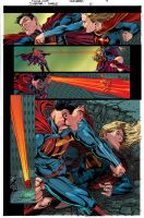 SUPERMAN VS SUPERGIRL by K-Bol