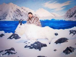 S. Garrett With Mountain Goat by emilysodders