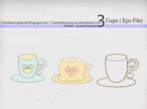 3 cups eps file by cameliaRessources