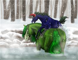 Kelpie Try 2 - Merry Christmas Murray by CrackMonster