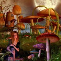 In the mushrooms forest by Leina1