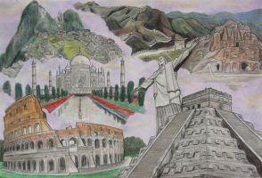 7 Wonders of the World by VinceArt