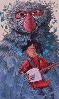 Kubo and Monkey by Newburgart