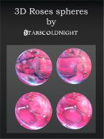 3D rose spheres by starscoldnight by StarsColdNight