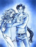 Sailor Moon - Seiya and Michiru by zelldinchit