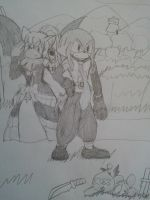 Knuckles and Rouge as Adell and Rozalin by Tanaka-Sentaro