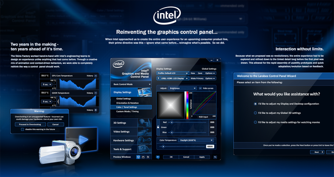 Intel Graphics Control Panel UX + UI Design View 2 by skinsfactory