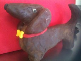 Dog chocolate clay by Boltession
