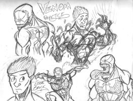 Venom: Warm- Up Sketches by ProjectDJ