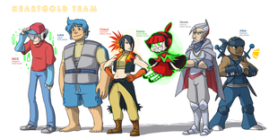 Pokemon OC: Heartgold Team by ky-nim