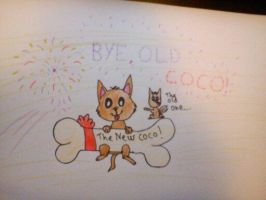 Say hello to Coco, and good bye to the old one by Meme00
