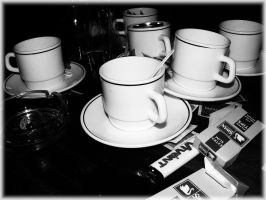 Coffee cups by angelwillz