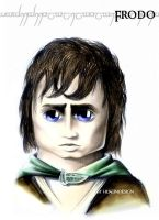 Frodo- caricature portrait by husseindesign