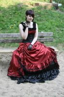 Black-red dress normal hair 10 by Noirin-Stock