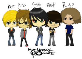 .:Gift:. MCR (In Chibi style) by GreenUnicornPugs