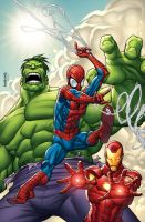 SpiderMan Hulk IronMan by GURU-eFX