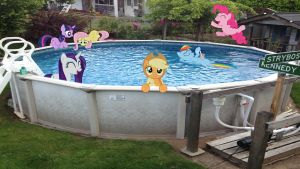 Mane 6 In My Pool by Macgrubor