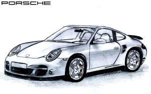 Porsche 997 Turbo Silver by toyonda