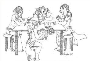 Girls' Poker Night by DippyWerewolf
