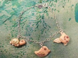 Silver Bracalet and cute little animals charms by LaFataRosa