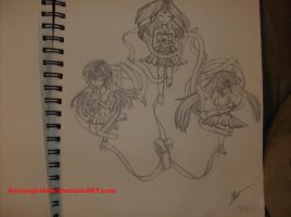 Sketch for Art class: Spheres and ribbons by Animegirl445