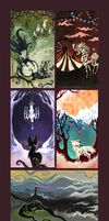 5 little paintings for sale by IceandSnow