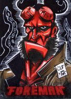 Hellboy PSC ACEO by Chris Foreman by chris-foreman