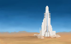 Desert Tower by TheMoub