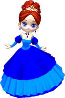 Princess in Blue Poser PNG Clipart (18) by clipartcotttage
