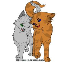 Ferncloud and Brackenfur by lucymaggielover