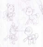 WIP - Pucca Ponies by capcappucca222