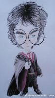 Caricature of Harry Potter by AdrianeSM