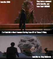 Godzilla's EPIC Staring Moments. by Angelgirl10