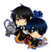 Ciel and Sebastian by DarkMagic-Sweetheart