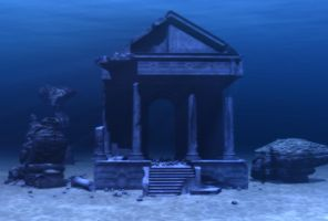 Meagara Temple Blue Stock by Moonchilde-Stock