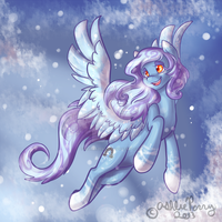 MLP OC SnowShoe 2013 by BlueKazenate