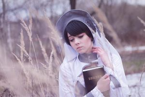 Hands on the Bible by HimeNami