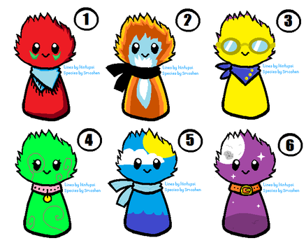 6 Scarfblob adopts [OPEN] by SwimmerOfTheNile