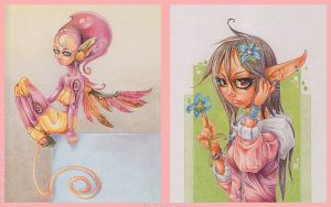Sky Doll + Little Flower by Dillerkind