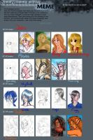 The evolution of my OCs by Charlotte-DG