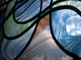 stained glass swirls by rdwGlass