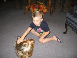 dylan and the dog by heatherrene1993
