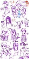 aOCT Sketch Party of Sparkles and Confetti by MischiefJoKeR