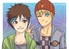 Art Trade- Naruto and SubSoulR by Immature-Child02
