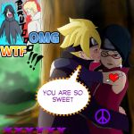 Boruto And Sarada by eduartineanimacionet