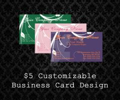 Customizable Business Cards - 04 by PointyHat