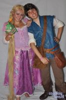Disney's Tangled - Rapunzel and Flynn by yunekris